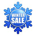 Stock Illustration of winter sale snowflake label