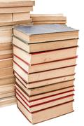 Stock Photo of piles of weathered old books