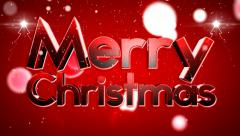 Merry Christmas type animation 1 1 Stock Footage