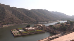 A panoramic view from amer fort, Jaipur3 Stock Footage
