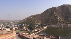 A panoramic view from amer fort, Jaipur2 Stock Footage