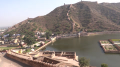 A panoramic view from amer fort, Jaipur Stock Footage