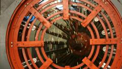 Rotating machine with welding sparks Stock Footage