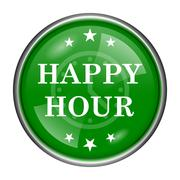 Stock Illustration of happy hour icon