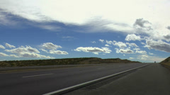 Wal-Mart Truck Drives Open Highway EDITORIAL Stock Footage