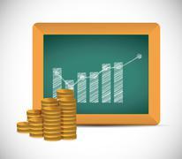 Stock Illustration of monetary educational concept illustration design