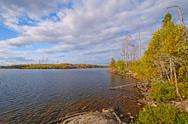 Stock Photo of late afternoon in the boundary waters