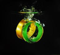glass bangles - stock photo