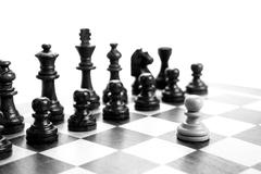 Stock Photo of chess pieces on the board