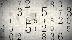 Twitching numbers loopable background Stock Footage