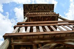 Stock Photo of wooden watchtower