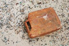 old rusty canister - stock photo