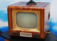 Old tv set Stock Photos