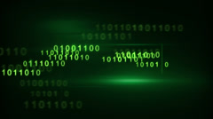 Flying green binary digits loop Stock Footage