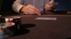 Casino. Dealing cards - stock footage