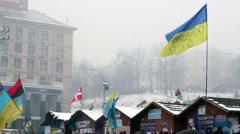 Kiev Euro Maidan 6 Stock Footage