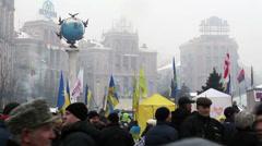 Kiev Euro Maidan 5 Stock Footage