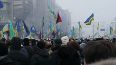 Kiev Euro Maidan Stock Footage
