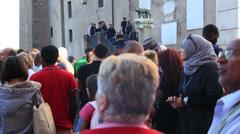 Rome demonstartion - 'Resistenza Abitativa Metropolitana' 8 Stock Footage