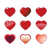 Set of images of hearts Stock Illustration
