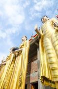 Stock Photo of giant buddha at wat phra that su thon mongkhon khiri samakkhi