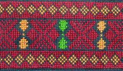 palestinian cross-stitch embroidery - stock photo