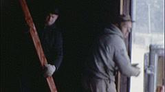 Workers UNLOADING Truck Builders Site 1960s Vintage Film Home Movie 7451 Stock Footage