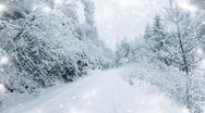 Stock Illustration of winter road in the mountains