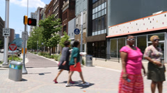 Downtown wholesale district, urban/suburban Stock Footage