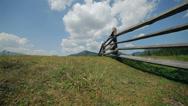 Stock Video Footage of Carpathian mountains, meadows
