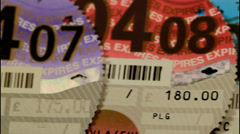 Car Tax Disc Stock Footage