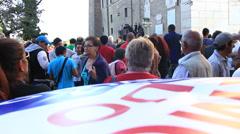 Rome demonstartion - 'Resistenza Abitativa Metropolitana' 7 Stock Footage