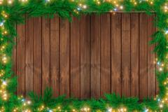Wood christmas backdrop Stock Illustration