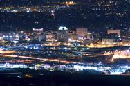 Stock Photo of city of colorado springs skyline at night