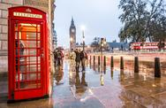 Stock Photo of Red Telephone Box in London, England