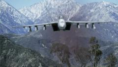 F-18 In the Mountains Stock Footage