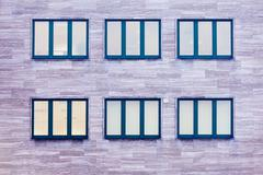 commercial building windows architecture pattern - stock photo