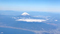Mt.Fuji Aerial Shot Stock Footage