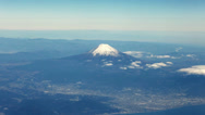 Stock Video Footage of Mt.Fuji Aerial Shot