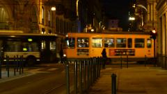 Town at night Stock Footage