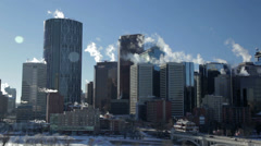 Calgary Downtown Winter - stock footage