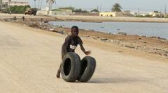Senegal child playing. Stock Footage