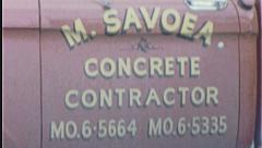 CEMENT TRUCK Construction Site 1960s Vintage 8mm Film Home Movie 7460 Stock Footage
