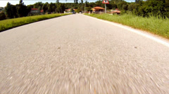 Driving on country road Stock Footage