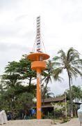 Tsunami sireeni pole, Phuket, Thaimaa Kuvituskuvat