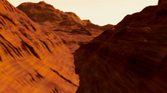 (1301) Canyonlands Barren Alien Sci-Fi Planet Animation Loop Stock Footage