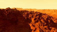 (1302) Canyonlands Barren Alien Sci-Fi Planet Animation Loop Stock Footage