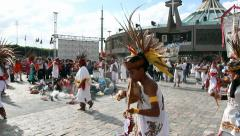 Mestizos and indigenous dancers Stock Footage