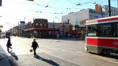Chinatown Toronto Timelapse 2a Tilt (4K) Stock Footage