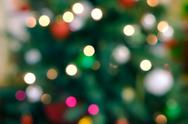 Holiday background with blurred lights Stock Photos